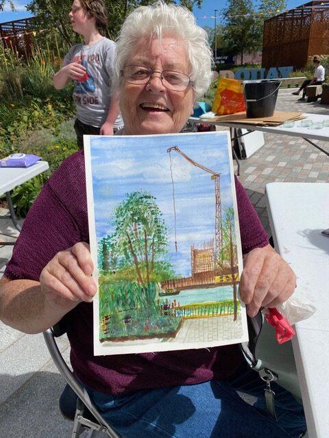 Watercolour en plein air at Greenford Quay