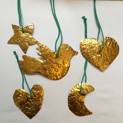Foil Christmas Ornaments Workshop